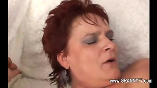 Fat Old Redhead Gets Plugged With A Young Mans Hard Boner