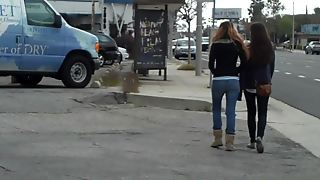 Ass And A Butt In Jeans Walking