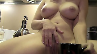 Busty Pornstar Masturbating In Solo