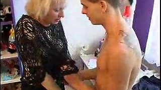 Very Hot Mom Seducing Boy