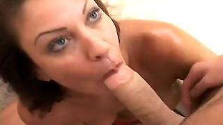 Cheating Wife Vanessa Videl Giving Husbands Friend A Sloppy Blowjob