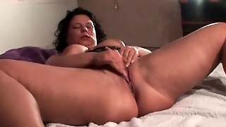 Sexy Mature Masturbating And Having Strong Orgasm