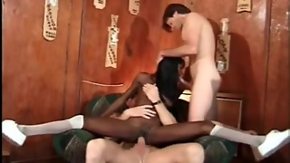 Double Penetration Of A Sexy Black Teenager