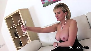 Cheating British Mature Lady Sonia Pops Out Her Oversized Ti