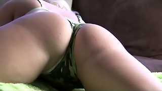 Shaking Ass In Camouflage Panties