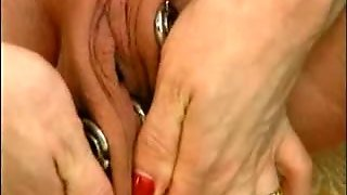 Extreme Mature Pregnant Amateur Bizarre Pussy Stretching