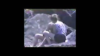 Vintage 1994 - Beach Blow Job Voyeur