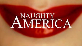 Nosey Neighbor Gets A Big Dick In Her Face! Naughty America