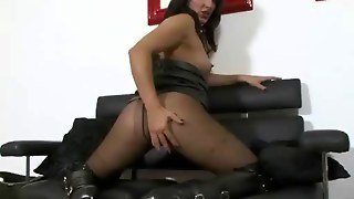 Kinky Chick Chastened In Latex Fetish