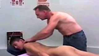 Daddy Gives Young Man Massage