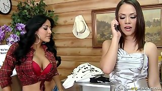 Busty Honey Kiara Mia Gets Her Hands On Kristina Rose