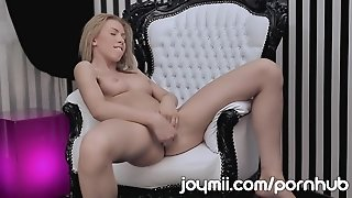 Joymii Blonde Russian Teen Erotically Plays With Anal Beads