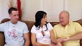 Older Babe Devours Young Cock