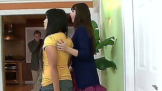 Justin Magnum Is Allowed To Watch At Lesbian Play Of Dana Dearmond And Lana Violet