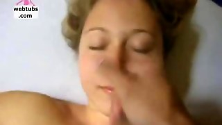 Handjob Cum On Blonde Face