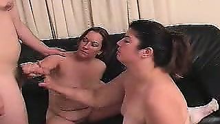Bbw Tug Job Threesome
