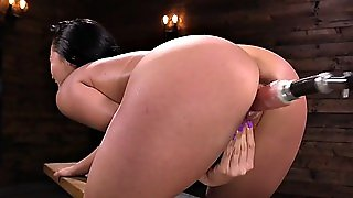 Solo Babe Anal Fucked By Machine