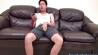 Young Asians Touching And Jerking