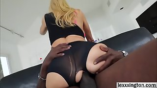 Busty Babe Alexis Fawx Takes An Interracial Fuck Session