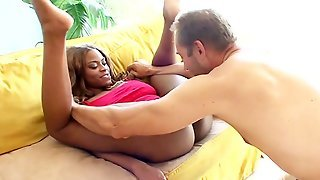 Black Babe And A Fucking White Boy