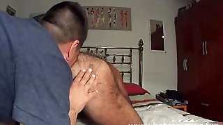 Chilean Daddy Gets Pounded Stiff And Creampied