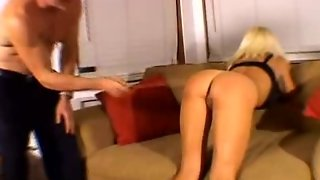 Blonde Hottie Gets Those Butt Cheeks Spanked