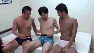 Asian, Orgy 3Some, Gay, Blowjob, Featured