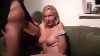 German Women Make Cuckold Eat Cum