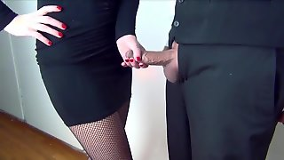 Secretary Giving Handjob