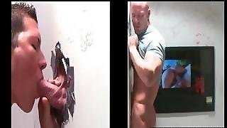 Gloryhole Gay Handjob To Straight Dude