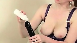 Date Me At Milf-Meet.com - British Milf Lulu Fucks A Dildo