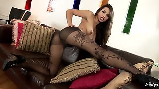 Chelsea French In Black Pantyhose