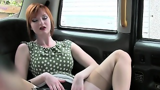 Fake Big Tits Redhead Banged In A Fake Taxi