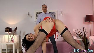 Stockings Brit Creampied By Old Man