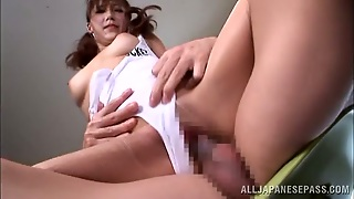 Japanese Girl In A Swimsuit Gives A Blowjob And Gets Fucked