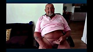 Grandfather Chubby Masturbating On Cam