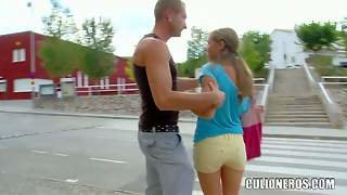 Spanish Chick Yaiza Del Mar Gets Picked Up And Gives