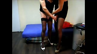 Crossdresser Handjob Compilation