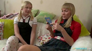 Russian Schoolgirls Studing For Class