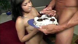 Amazing Brunette With Lovely Titties Is Really Good At Blowing Strong Cock
