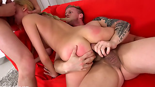 Russian Teen In Rough Pussy And Anal Dp