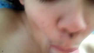 Skinny Girl Home Blowjob With Cum In Mouth.