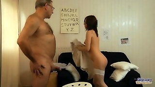 Babe, Teen, Cumshot, Blowjob, Old And Young