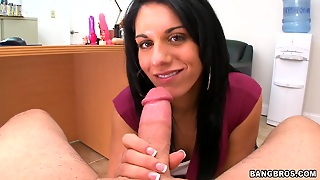 Fucking A Brunette Milf's Shaved Pierced Pussy In Pov