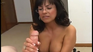 Hot Milf Gives Amazing Handjob