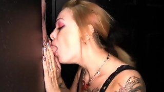 Gloryhole Secrets Shelby Is At The Gloryhole Sucking Cocks & Swallowing