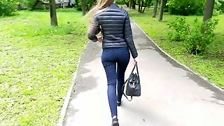 Sexy Russian Ass In The Park
