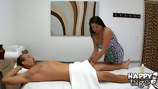 Asian Satisfies Her Sexual Needs And Desires With Mans Rock