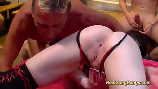 Gangbang Orgy With Cute Teen