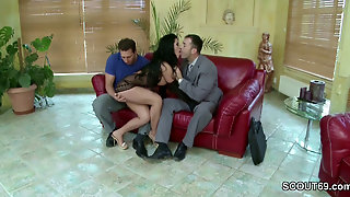 Hot Wife In Double Fuck With Husband And His Friend